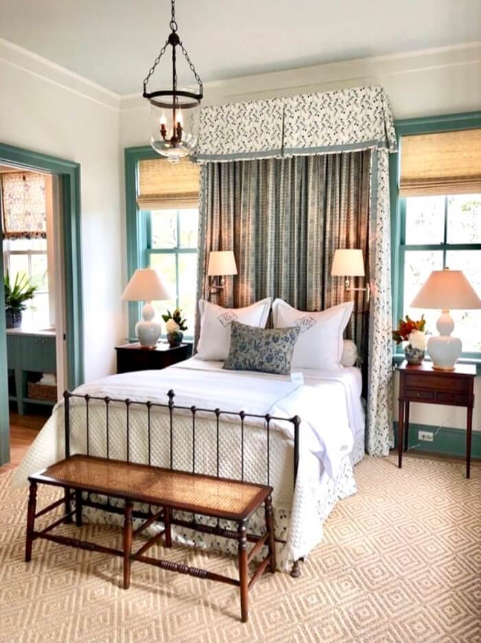 Guest Bedroom with canopy