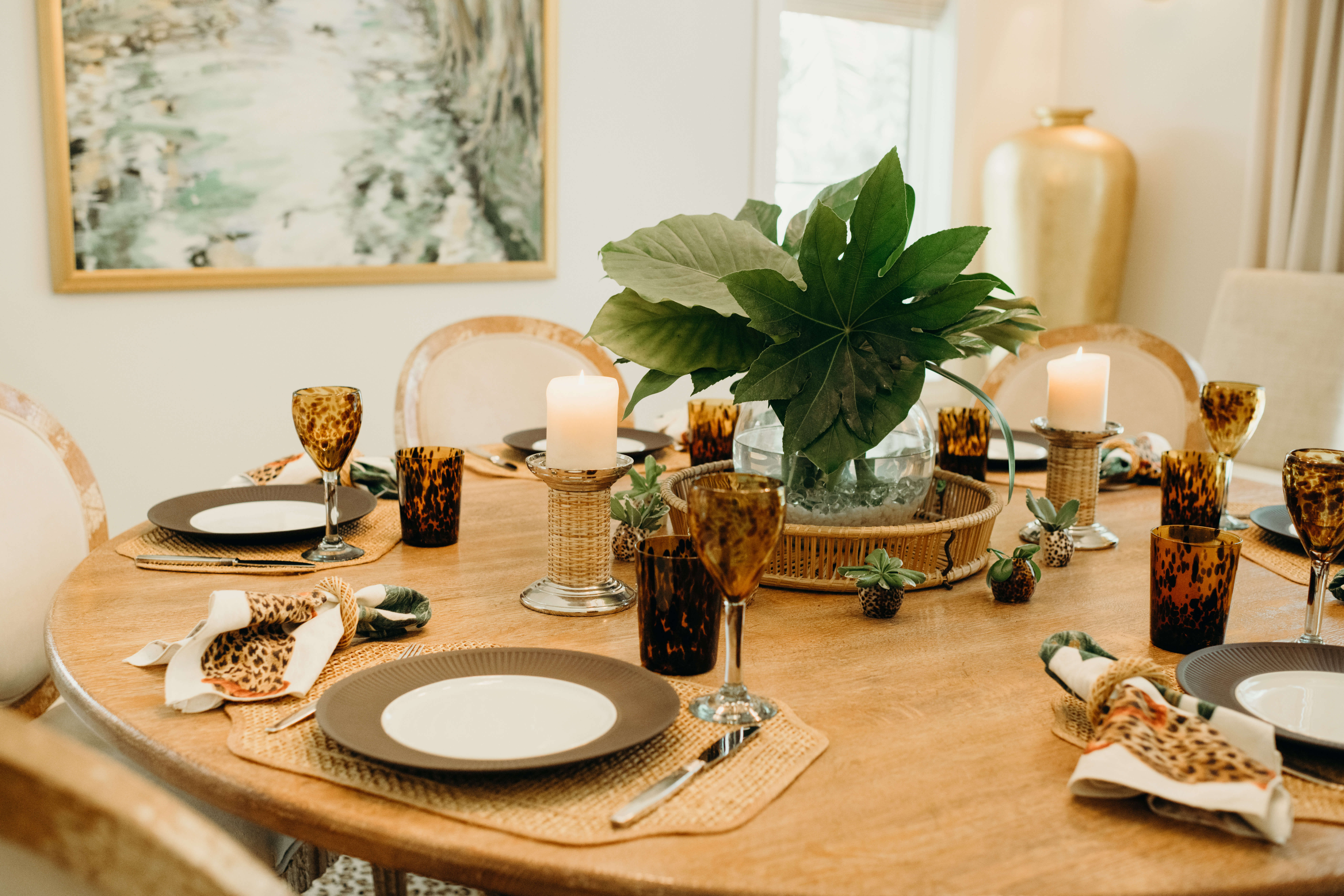Louise Fontaine table setting photo by Page Teahan