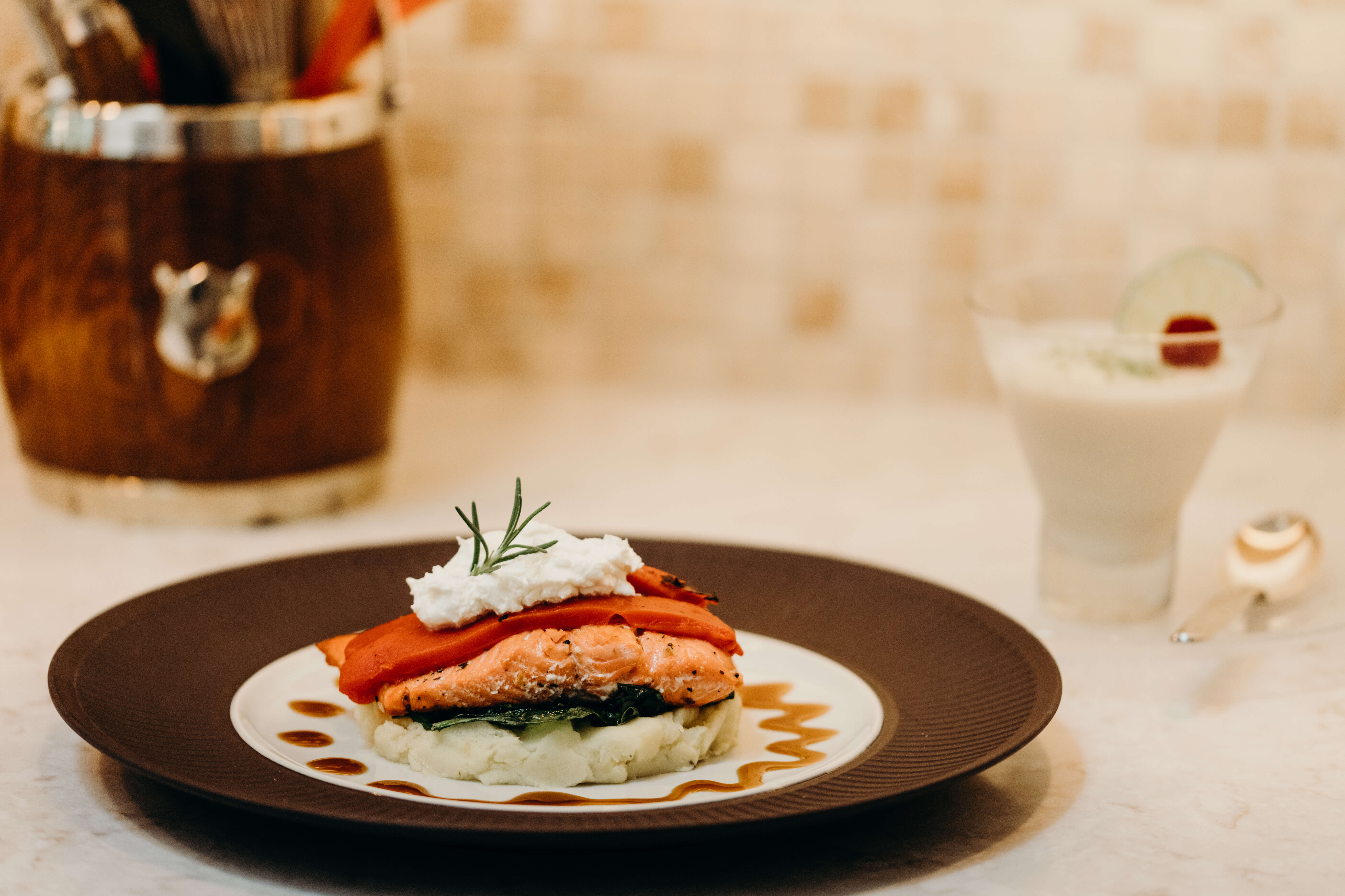 Salmon Stack and Pina Colada Mousse photo by Page Teahan
