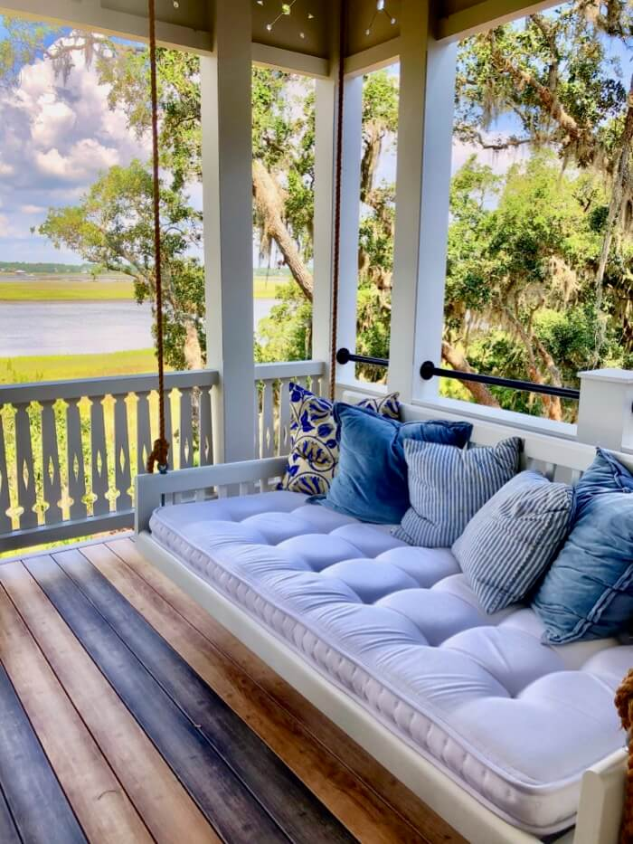Upstairs porch swing Southern Living 2019 Idea House