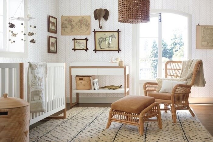wicker in nursery