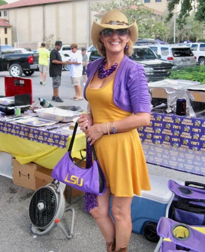 LSU Cowgirl fan photo by Kathy Miller