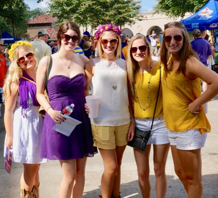 LSU flower power girls photo by Kathy Miller