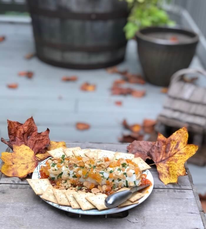 Apricot and Almond Goat Cheese Spread