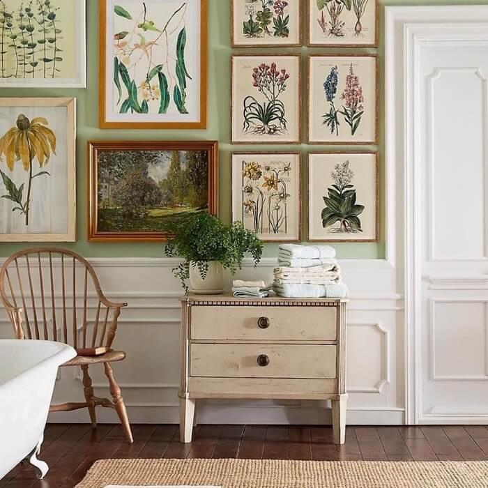 Bathroom botanicals instagram designs