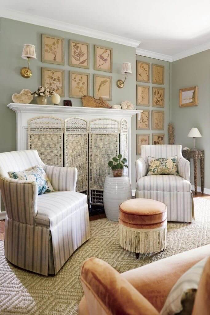 Botanicals in a Kentucky home The Glam Pad Instagram
