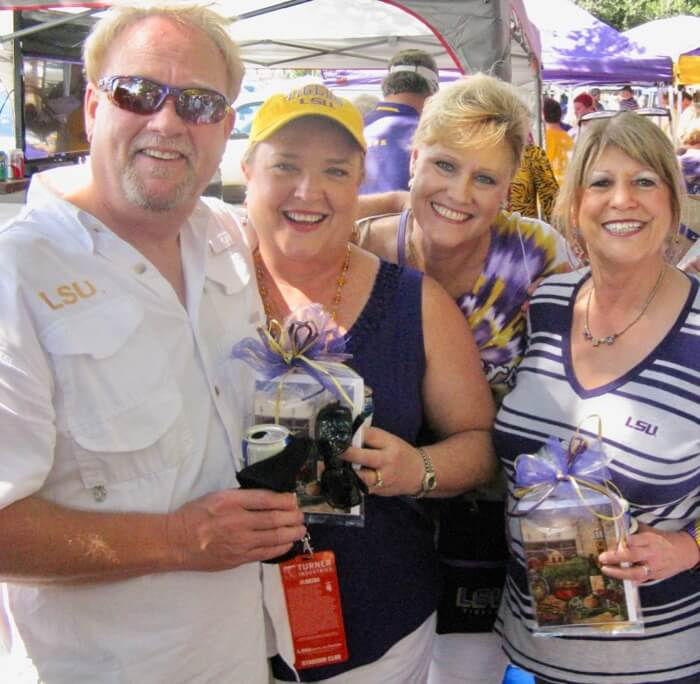 LSU fans invited us to their tailgate photo by Kathy Miller