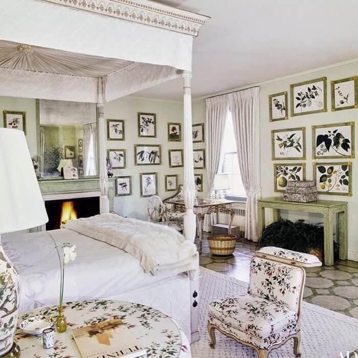 Lee Radziwill bedroom in New York