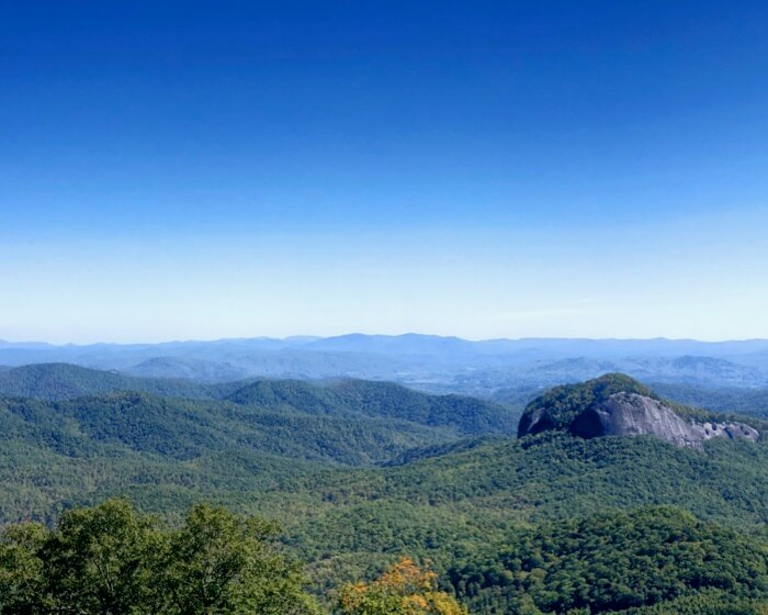 Looking Glass Mountain on the Blue Ridge Parkway