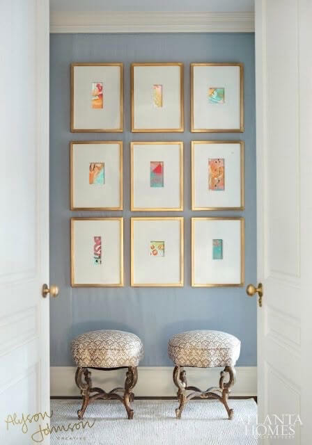 Mini Abstract Gallery Wall Alyson Johnson Pinterest