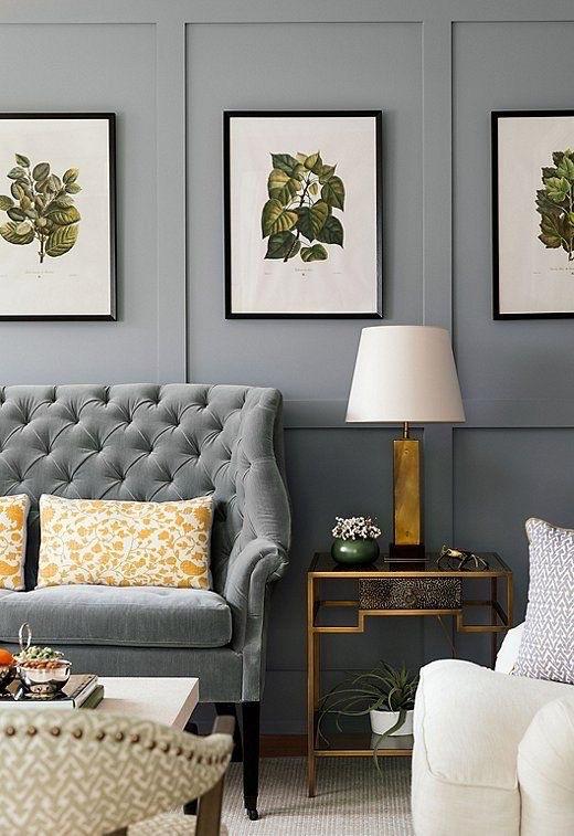 Botanicals on Gray walls One Kings Lane Instagram