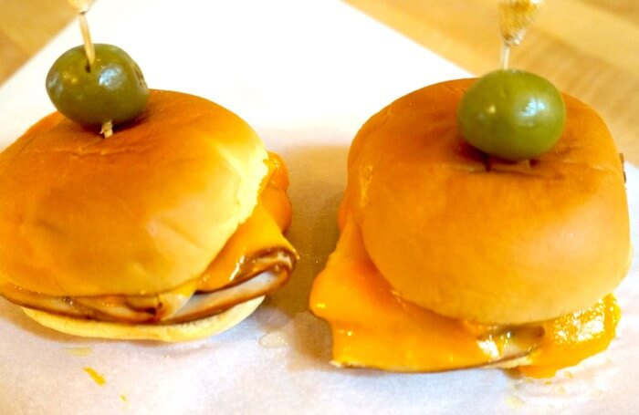 Tennessee Slider, Turkey and Smoked Cheddar Cheese photo by Kathy Miller