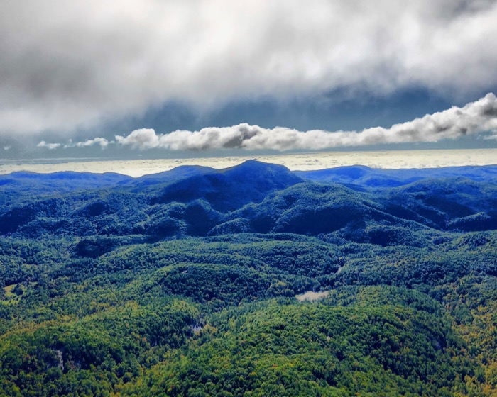 View from Whiteside Mountain photo by Kathy Miller