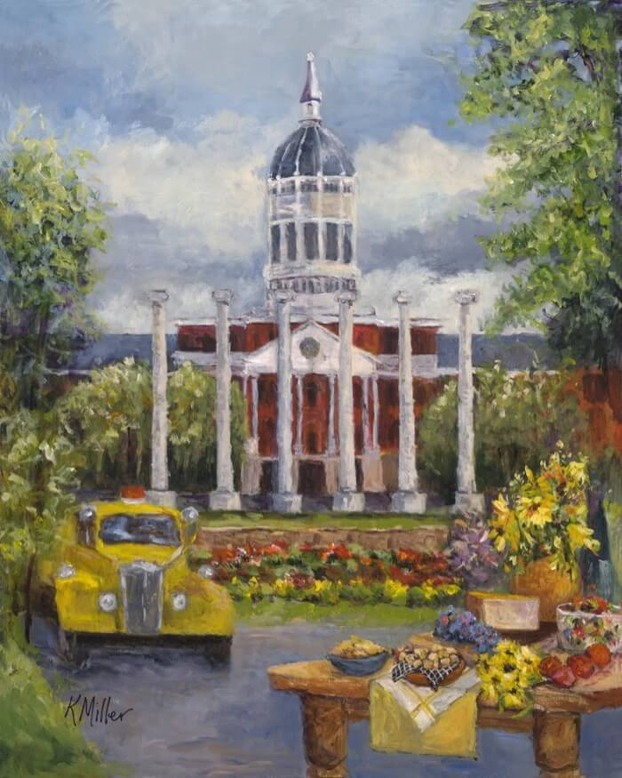 University of Missouri, Tailgating In The Zoo painting by Kathy Miller