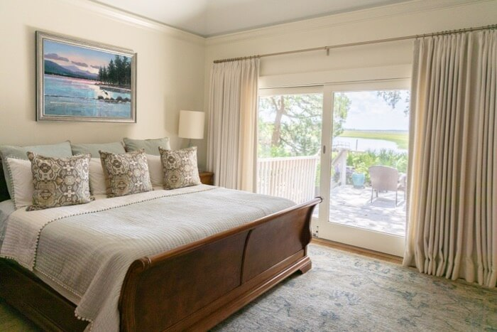 Main bedroom with marsh views photo by Lynn Tennille
