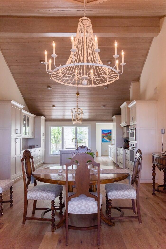 Aidan Gray chandelier in dining area photo by Lynn Tenille