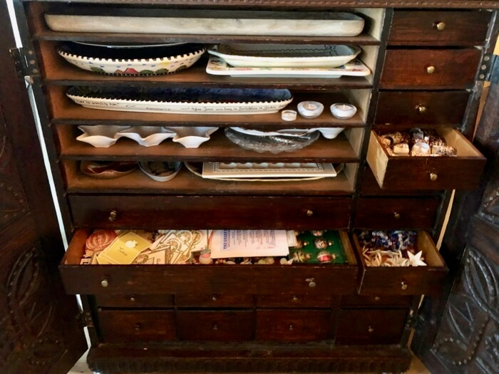 Apothecary cabinet with lots of drawers photo by Kathy Miller