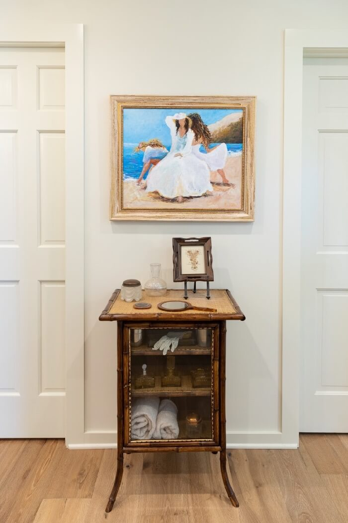 Antique bamboo cabinet with unique collections photo by Lynn Tennille
