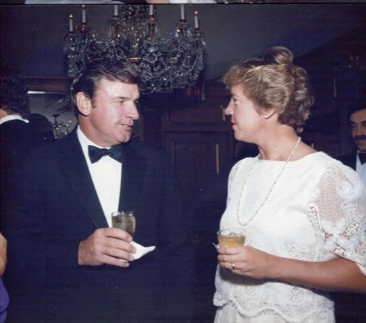 Carol and Mike Joyce at a celebration party for Dave Miller