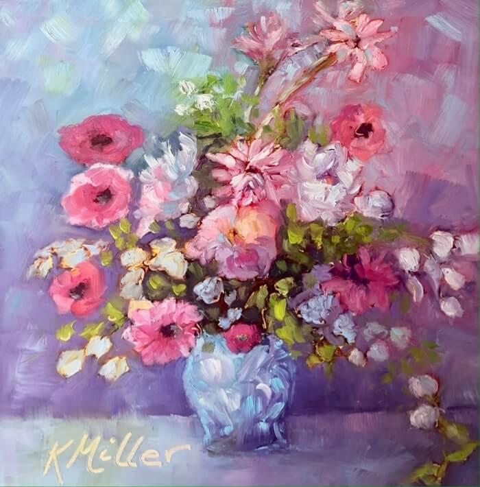 Wild English Splendor painting by Kathy Miller