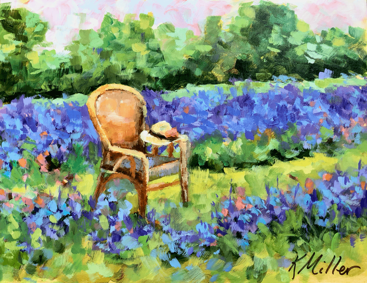 Lavender Fields In Provence oil by Kathy Miller