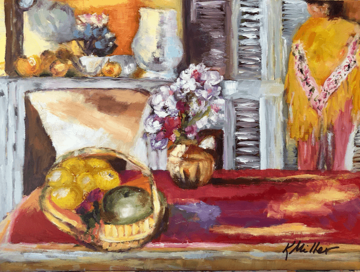Kathy Miller's version of Bonnard's Corner in the Dining Room at Cannet