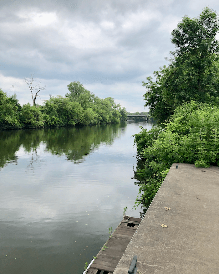 Erie Canal in Utica NY photo by Kathy Miller