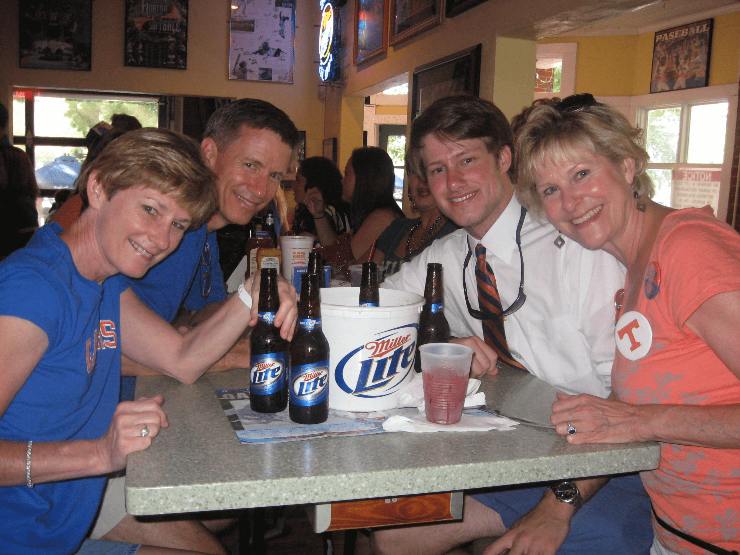 It's Miller Time before Tennessee/Fl game photo by Kathy Miller