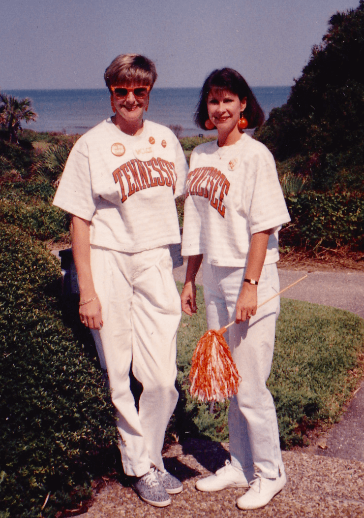 Kathy and Robin Tennessee Florida game early 90's photo by Kathy Miller