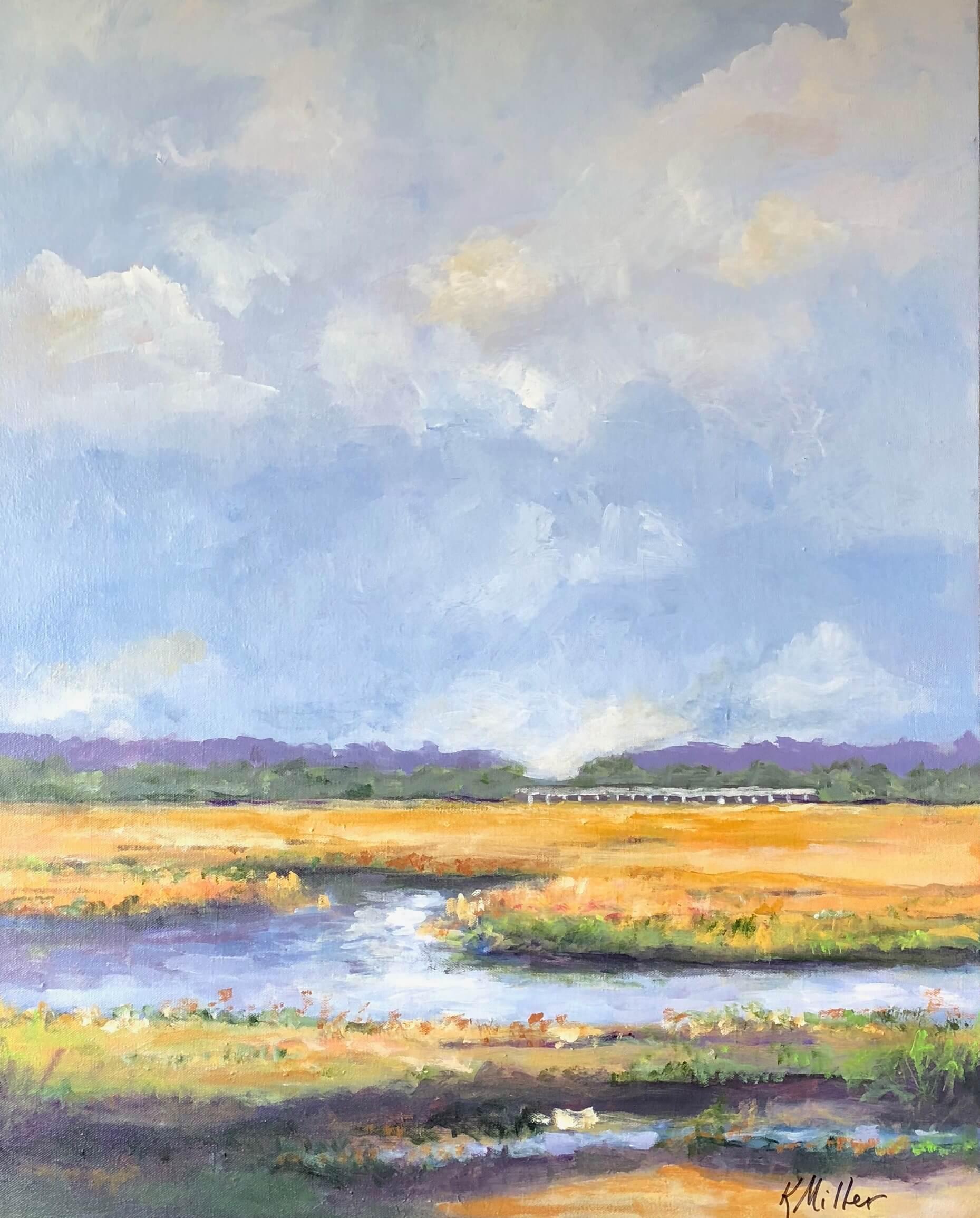 Walker's Creek Marsh original painting by Kathy Miller